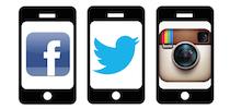 Social media on smartphones