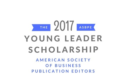 Applications are open for the 2017 ASBPE Young Leaders Scholarship competition!